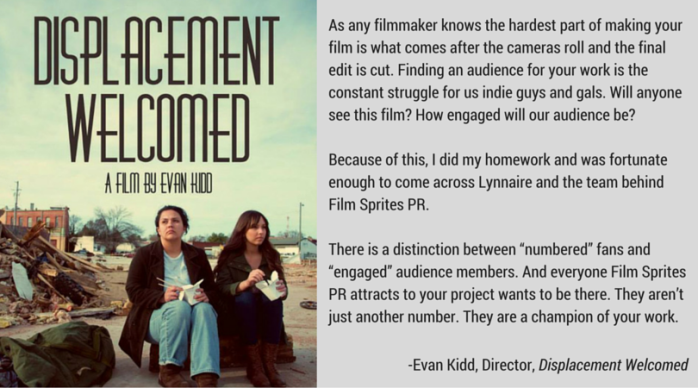 Testimonial Evan Kidd Displacement Welcomed Film Sprites PR