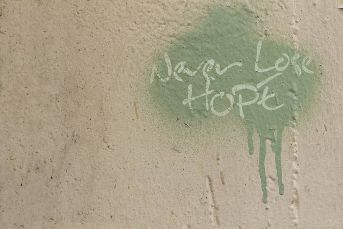 Never Lose Hope Graffiti