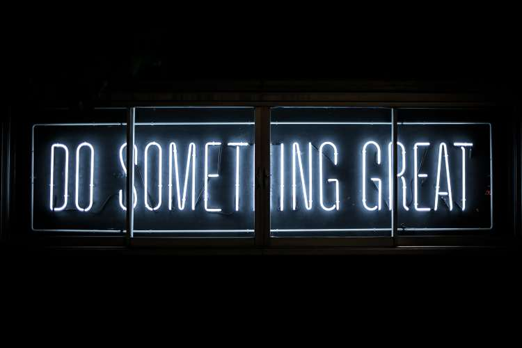 Neon Sign Do Something Great