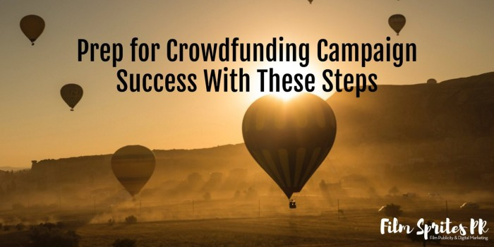 Prep for Crowdfunding Success