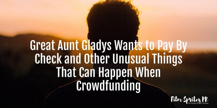 Unusual Things That Happen On Crowdfunding Campaigns
